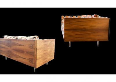 MCM Floating Rosewood Case Sofa & Loveseat Designed by Milo Baughman_1