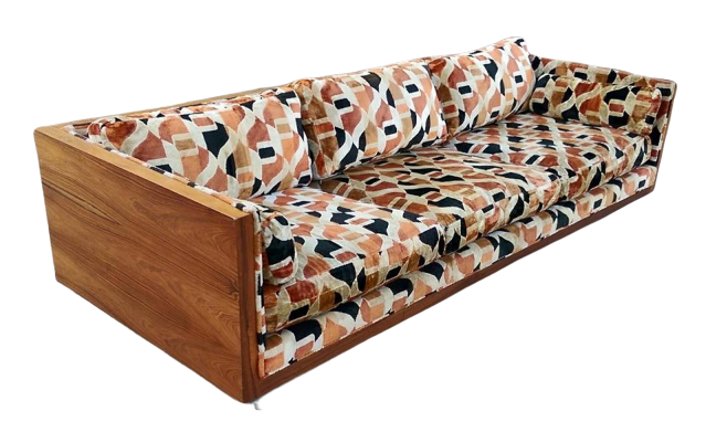 SOLD ~Vintage Mid Century Floating Rosewood Case Sofa & Loveseat