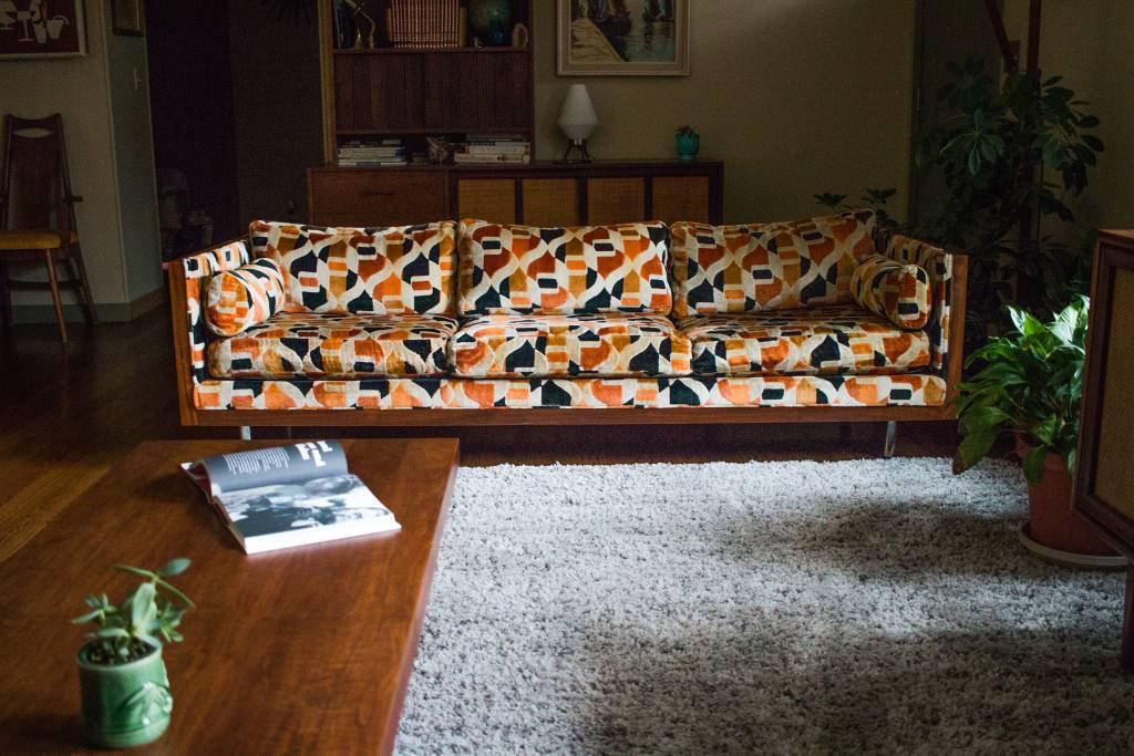 Vintage Mid Century Milo Baughman Floating Rosewood Case Sofa & Loveseat4