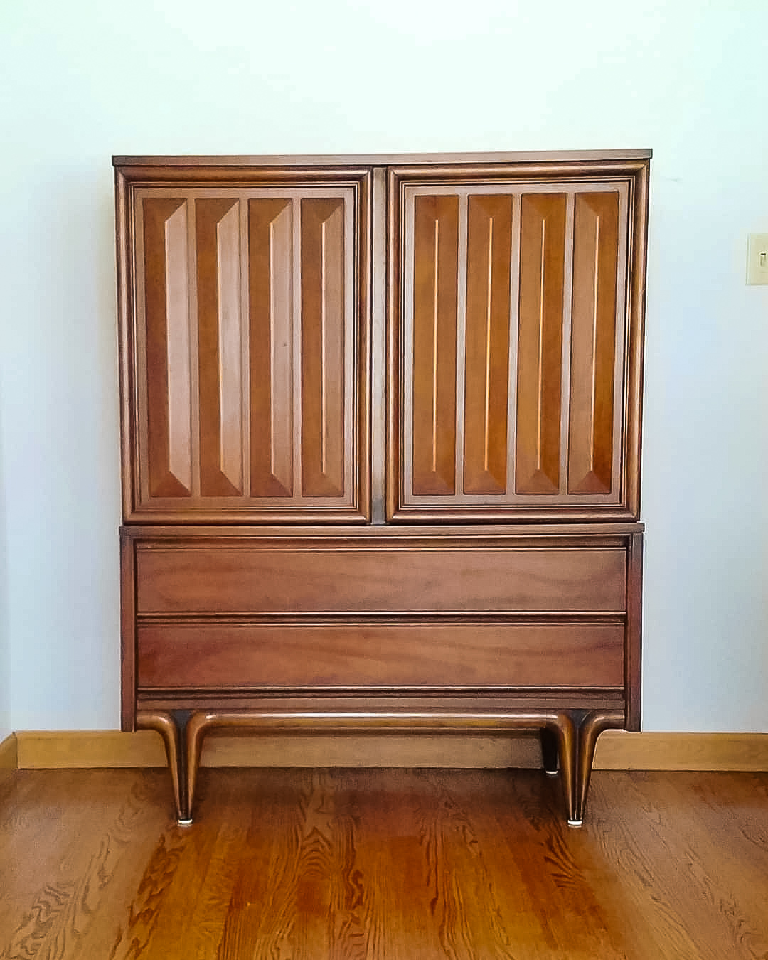 American Made Mid Century Gentleman's Chest Armoire