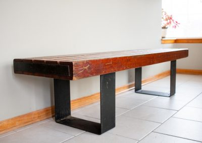 Vintage Indoor, Outdoor Industrial Bench or Coffee Table_7