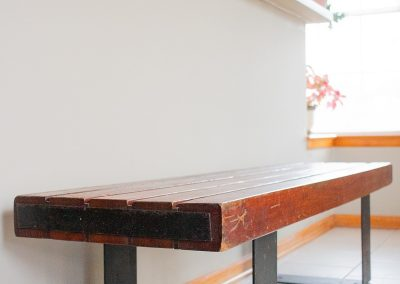 Vintage Indoor, Outdoor Industrial Bench or Coffee Table_6