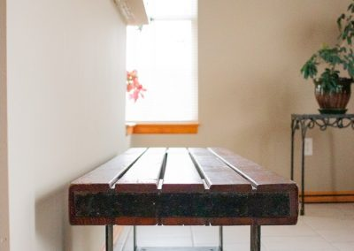 Vintage Indoor, Outdoor Industrial Bench or Coffee Table_5