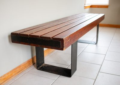 Vintage Indoor, Outdoor Industrial Bench or Coffee Table_4