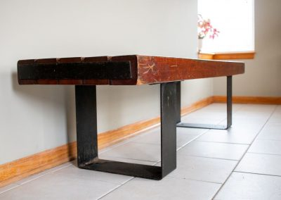 Vintage Indoor, Outdoor Industrial Bench or Coffee Table_3