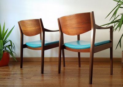 Pair Of Mid Century Modern Arm Chairs by Gunlocke Chair Co._6