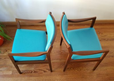 Pair Of Mid Century Modern Arm Chairs by Gunlocke Chair Co._4