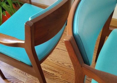 Pair Of Mid Century Modern Arm Chairs by Gunlocke Chair Co._3
