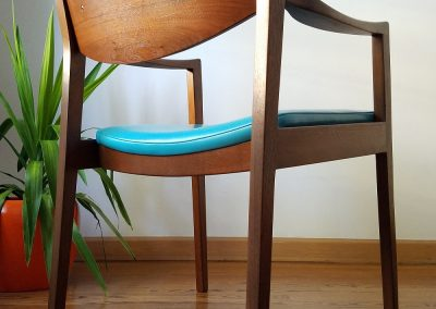 Pair Of Mid Century Modern Arm Chairs by Gunlocke Chair Co._2