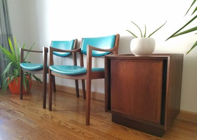Pair Of Mid Century Modern Arm Chairs by Gunlocke Chair Co._1
