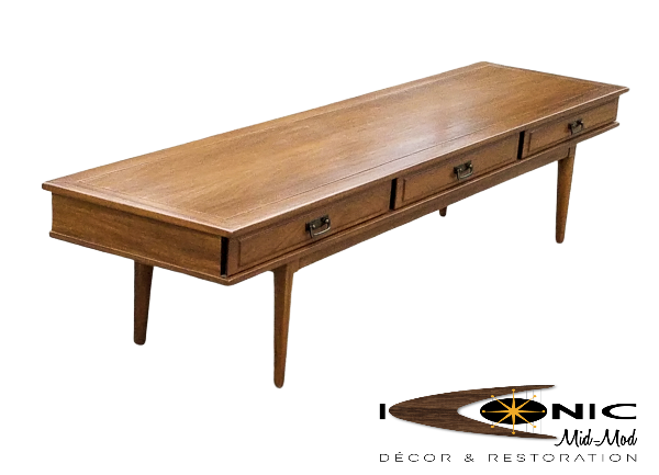 SOLD Vintage Mid Century 6 FT Coffee Table