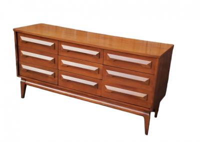 Vintage Mid Century Modern Double Dresser_3
