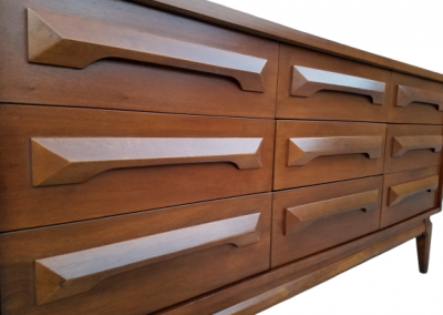 Vintage Mid Century Modern Double Dresser_1