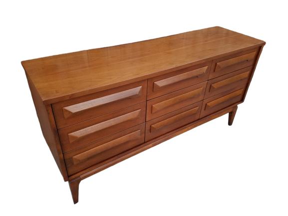 Vintage Mid Century Modern Double Dresser