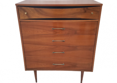 Vintage Mid Century Modern Chest with Double Deep Drawer_4
