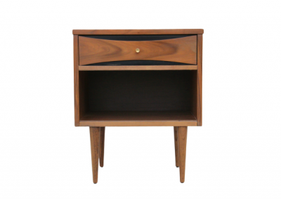 Mid Century Modern Nightstand with Gold Accents_4