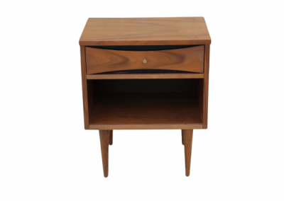 Mid Century Modern Nightstand with Gold Accents_5