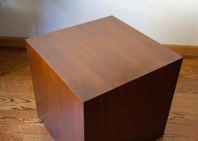 Mid Century Vintage Walnut Cube End Table_4