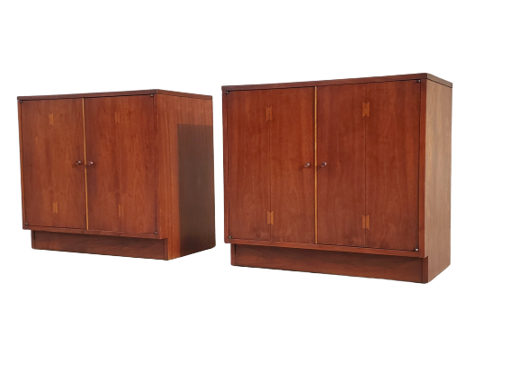 Mid Century Vintage Matched Pair of Cabinets by Lane