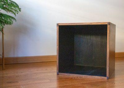Mid Century Vintage Walnut Cube End Table_2