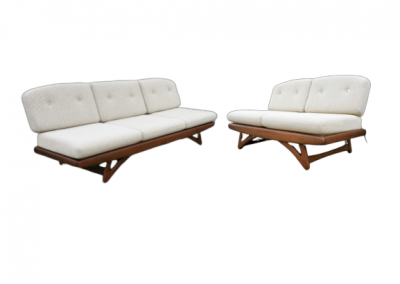 Mid Century Sofa and Loveseat,  Adrian Pearsall Style_1
