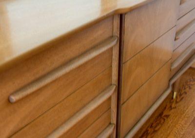 United Furniture Co. Mid Century Triple Dresser and Mirror_6