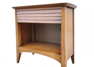 MID CENTURY MODERN LOUVERED NIGHT STAND BY HARMONY HOUSE_6