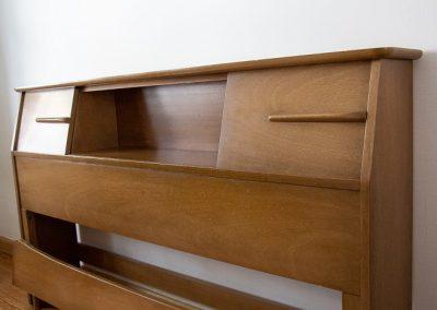 United Furniture Co. Mid Century Full Size Bookcase Headboard_3