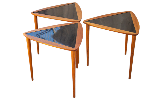 Triangular MCM Coffee or Side Tables Designed by Arthur Umanoff