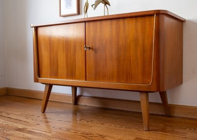 Mid Century Modern Bar with Lock and Key_7