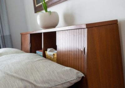 Mid-Century Bookcase Headboard Bed, Mainline by Hooker_7
