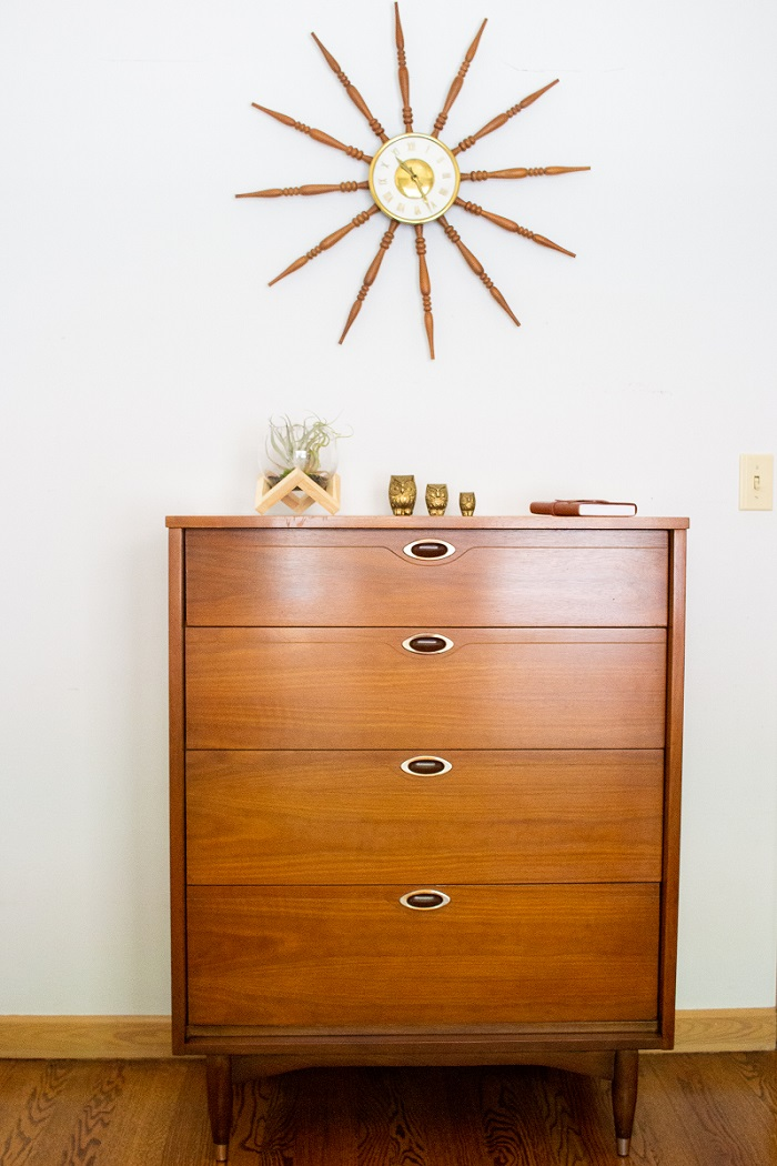 4 Drawer Mid Century Modern Chest, Mainline Collection by Hooker