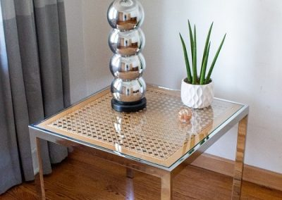 VINTAGE MID CENTURY CHROME MILO BAUGHMAN END TABLE_1