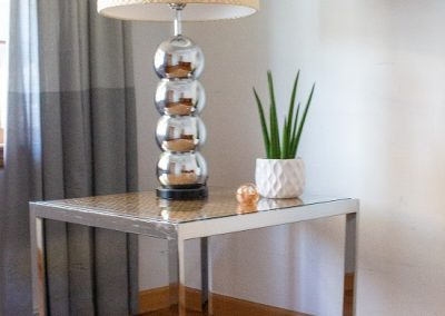Mid Century Chrome, Glass and Cane End Table Designed by Milo Baughman _4