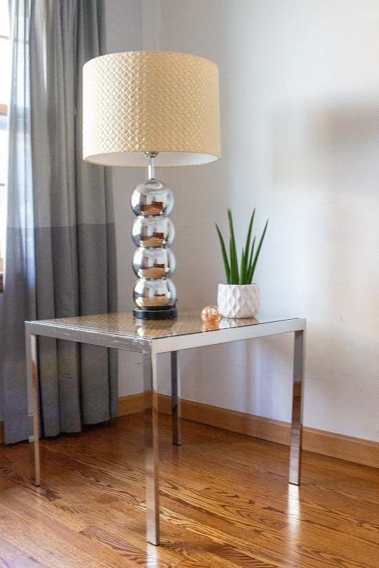 Vintage Mid Century Chrome Milo Baughman End Table