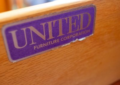 United Furniture Co. Mid Century 3 Drawer Chest_2