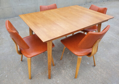 Mid Century Thonet Dining Chairs and Table_Iconic Mid Mod Decor_4