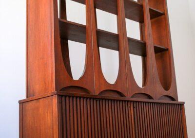 MID CENTURY BROYHILL BRASILIA ROOM DIVIDER WALL UNIT SHELVING 1