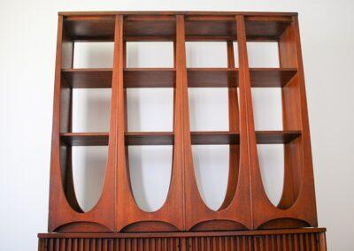 MID CENTURY BROYHILL BRASILIA ROOM DIVIDER WALL UNIT SHELVING 3